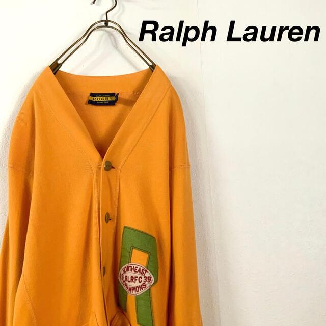 Ralph Lauren(ラルフローレン)のRalph Lauren マスタードカラー コットンニット カーディガン メンズのトップス(カーディガン)の商品写真