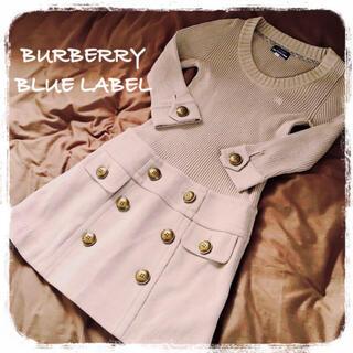BURBERRY BLUE LABEL - BURBERRY BLUE LABEL ニットワンピース