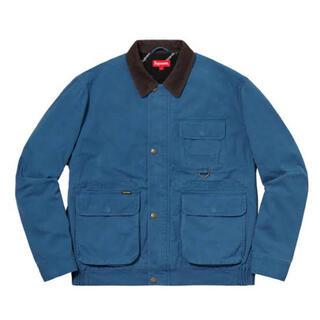 Supreme - Supreme field jacket blue 青 レザー 18aw