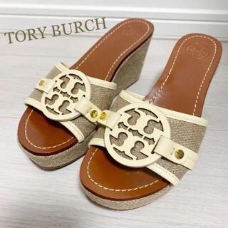 Tory Burch - 美品!トリーバーチ 23.5 サンダル ロゴ 厚底