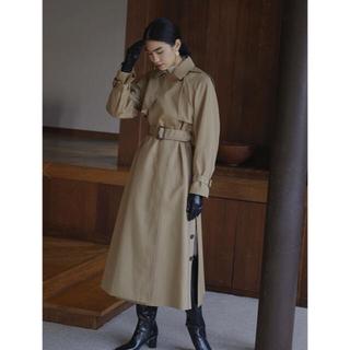 Ameri VINTAGE - 【Sサイズ】MINIMAL FLARE LONG TRENCH COAT