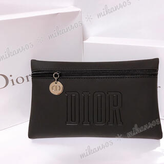 Dior - ディオール ブラック マット ポーチ ノベルティ ノベルティー コスメポーチ