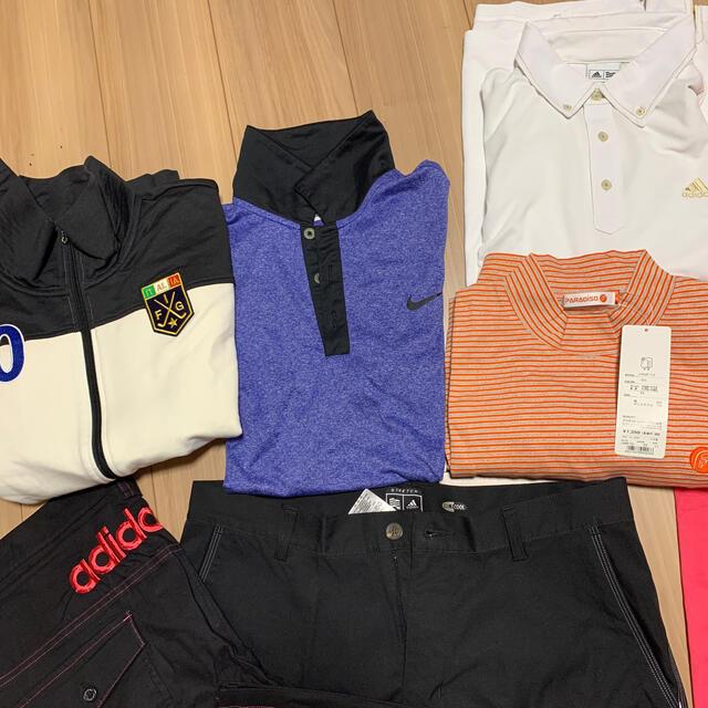 adidas(アディダス)のゴルフウェア セット売り 12点 おまけ付き スポーツ/アウトドアのゴルフ(ウエア)の商品写真