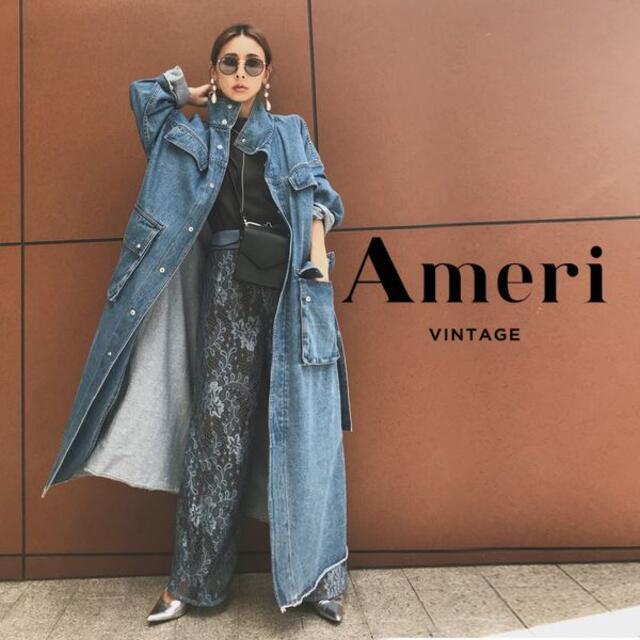 Ameri VINTAGE(アメリヴィンテージ)の新品 Ameri DENIM WORK LONG COAT FREE 未使用 レディースのジャケット/アウター(ロングコート)の商品写真
