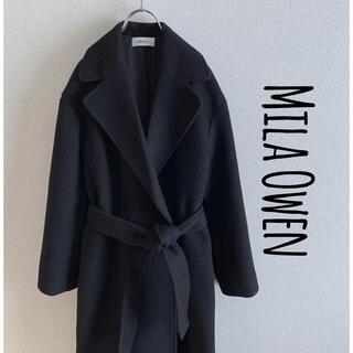 ミラオーウェン(Mila Owen)のMila Owen ミラオーウェン   ガウンコート ブラック(ロングコート)