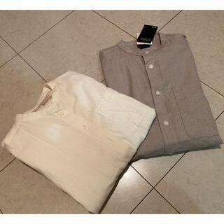 MUJI (無印良品) - マオカラーシャツ 2点セット
