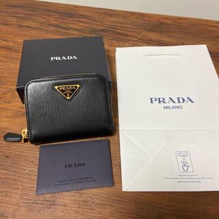 PRADA - 新品 PRADA プラダ 三角ロゴ ミニ財布 コインケース 黒