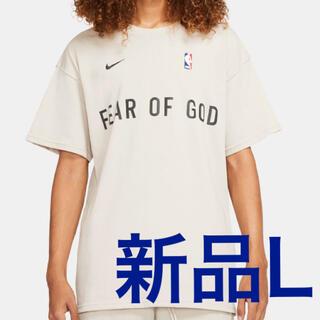 ナイキ(NIKE)の【新品】NIKE×fear of god tee オートミール L(Tシャツ/カットソー(半袖/袖なし))