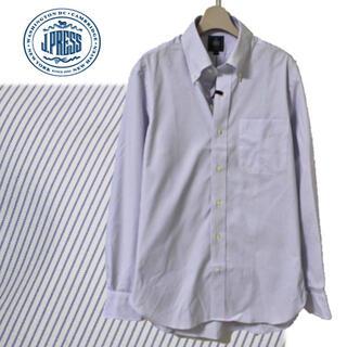 ジェイプレス(J.PRESS)の《ジェイ・プレス》新品 綿100% ボタンダウン 長袖ドレスシャツ 衿回り39(シャツ)
