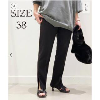 L'Appartement DEUXIEME CLASSE - AP STUDIO ストレッチ Zipパンツ ブラック SIZE38 新品タグ付