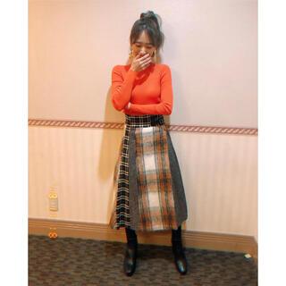 ルシェルブルー(LE CIEL BLEU)の新品 シャギーコンビスカート(ひざ丈スカート)