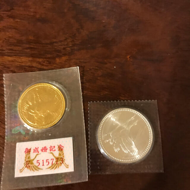 皇太子御成婚記念コイン エンタメ/ホビーの美術品/アンティーク(貨幣)の商品写真