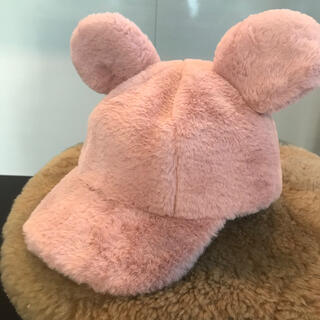 Disney - ふわふわミッキーキャップ 大人用 【東京ディズニーランド内SHOP商品】