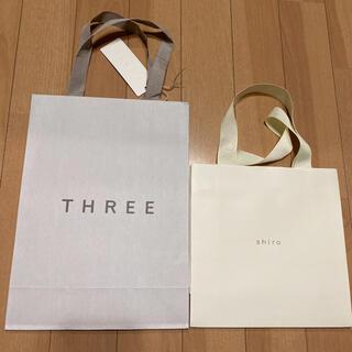 スリー(THREE)のTHREE shiro ショップ袋 ショッパー コスメ 値下げ(ショップ袋)