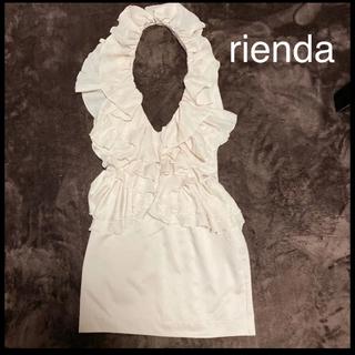 rienda - rienda★美品ひざ丈ワンピース