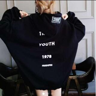 韓国ファッション パーカー オーバー ビッグパーカー ゆったり系 即日発送