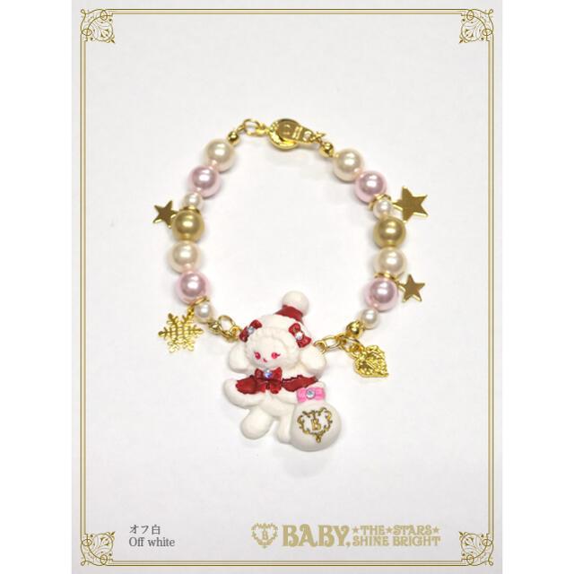 BABY,THE STARS SHINE BRIGHT(ベイビーザスターズシャインブライト)のくみゃちゃんのクリスマスブレスレット レディースのアクセサリー(ブレスレット/バングル)の商品写真