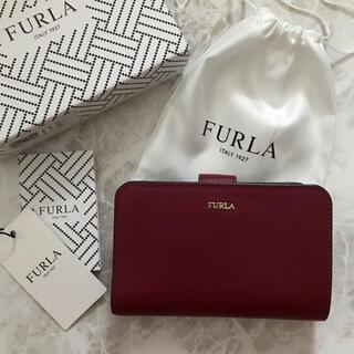 フルラ(Furla)の新品!フルラ FURLA 二つ折り財布 ダークレッド 赤(財布)