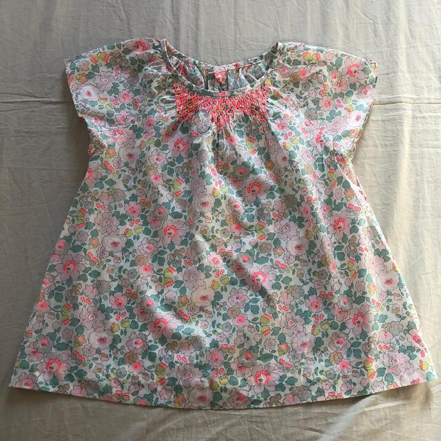 Jacadi(ジャカディ)の美品♡jacadi リバティ ブラウス キッズ/ベビー/マタニティのキッズ服女の子用(90cm~)(ブラウス)の商品写真