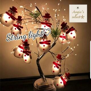 雪だるま クリスマスツリー led  ストリングライト 装飾品 年末年始 新年