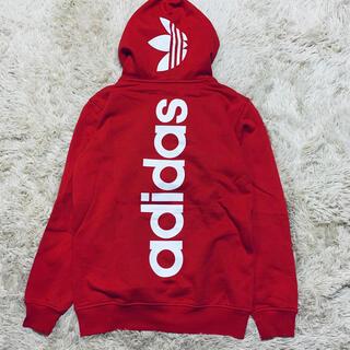 adidas - 新品 タグ付✨adidas アディダス✨ロゴパーカー レッド