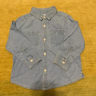 ザラキッズ(ZARA KIDS)のZARAベイビー デニムシャツ 90サイズ(Tシャツ/カットソー)