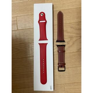 Apple Watch - Apple Watch (PRODUCT)RED バンド + 革バンド (40)