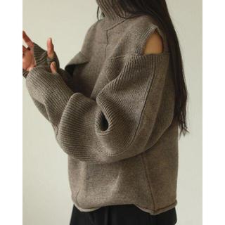 TODAYFUL - 新品完売品 TODAYFUL Layered Sleeve Knit グレージュ