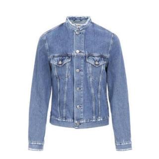 アクネ(ACNE)のacne studios denim jacket ノーカラー インディゴ(Gジャン/デニムジャケット)