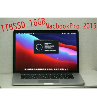 Apple - i7❗ 1TBSSD❗16GBメモリ❗2015 MacbookPro 15インチ