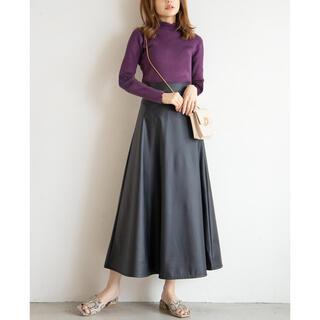GRL - グレイル レザーロングスカート M ブラック