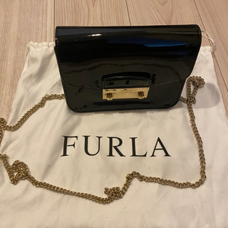 フルラ(Furla)の【希少品】フルラ  FURLA メトロポリス ジュリアエナメル ブラック(ショルダーバッグ)