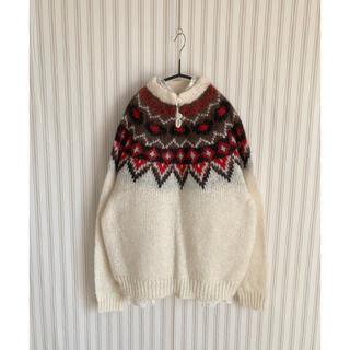 ロキエ(Lochie)の古着 vintage  used  ジャガード  モヘアニット ビンテージ (ニット/セーター)