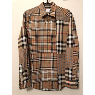 BURBERRY - Burberry ノバチェックシャツ パッチワーク XS