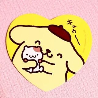 ポムポムプリン(ポムポムプリン)のポムポムプリン マフィン ハート形おおきめ缶バッヂ(バッジ/ピンバッジ)