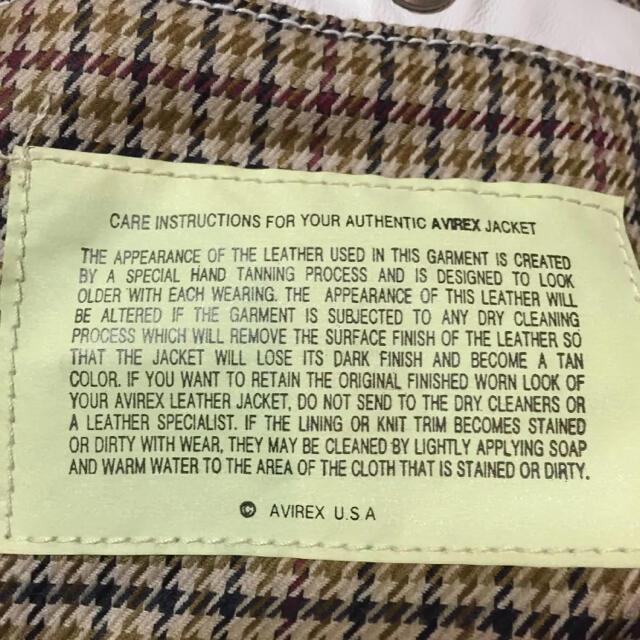 AVIREX(アヴィレックス)のavirex レザーダウン 白 ホワイト フード付き  ヴィンテージ メンズのジャケット/アウター(ダウンジャケット)の商品写真