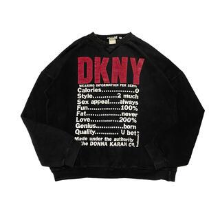 DKNY - 90 DKNY ダナキャランニューヨーク プリントスウェット 古着
