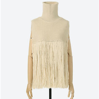 HYKE - HYKE RIBED WOOL TURTLENECK SWEATER CAPE