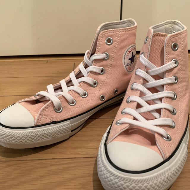 CONVERSE(コンバース)の★値下げしました★converse チャックテイラー ハイカット pink メンズの靴/シューズ(スニーカー)の商品写真