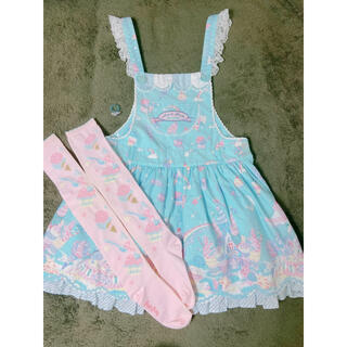 Angelic Pretty - Milky planet    サロペット 3点セット