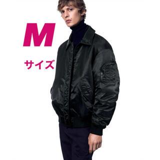 ジルサンダー(Jil Sander)のUNIQLO +J ダウンオーバーサイズリブブルゾン black Mサイズ(ミリタリージャケット)