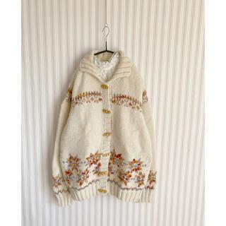 ロキエ(Lochie)の古着  ノルディック ニットセーター vintage used  ヴィンテージ(ニット/セーター)