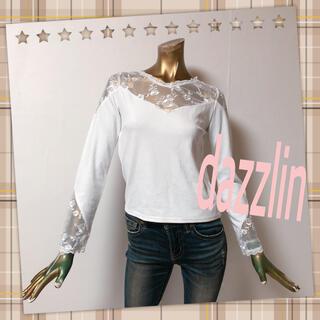 ダズリン(dazzlin)のdazzlin ♥ フラワー レース トップス(カットソー(長袖/七分))