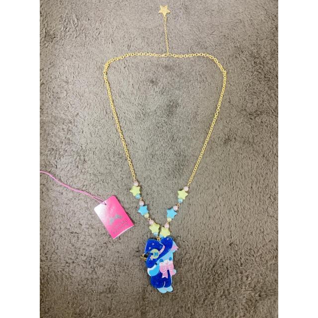 Angelic Pretty(アンジェリックプリティー)のLittle Witchはにかみベアーネックレス サックス レディースのアクセサリー(ネックレス)の商品写真