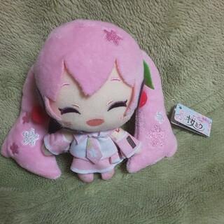タイトー(TAITO)の桜ミク ぬいぐるみストラップ 非売品(キャラクターグッズ)