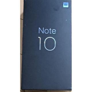 アンドロイド(ANDROID)の【中古】Xiaomi Mi note 10 6GB/128GB (スマートフォン本体)