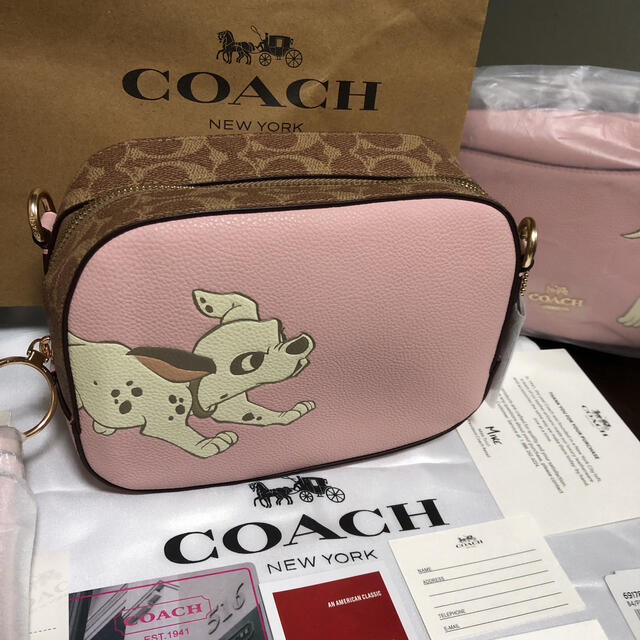 Disney(ディズニー)のcoach コーチ ダルメシアン 101匹わんちゃん バッグ ポーチ ディズニー レディースのバッグ(ショルダーバッグ)の商品写真
