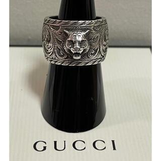 Gucci - 大人気!!【グッチ キャットヘッド インターロッキングG   リング 16号】