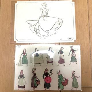 シンデレラ クリアファイル ポストカード ビンテージ