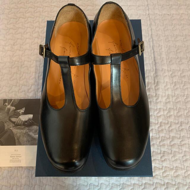 YAECA(ヤエカ)のatelier dantan ru shoes Tストラップ 裏張り済 未使用 レディースの靴/シューズ(ローファー/革靴)の商品写真